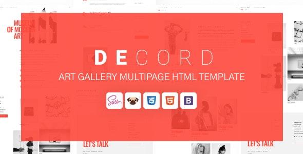 Decord - HTML Art Gallery Template - Art Creative