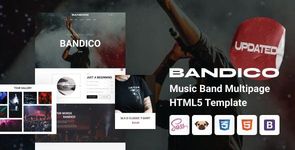 Bandico - HTML5 Music and Band Template