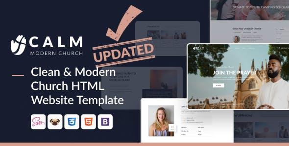 Calm - Modern Church HTML Website Design for Religious and Non-Profit Organizations