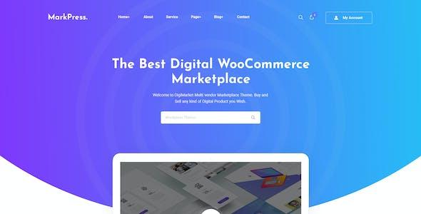 MarkPress - Digital Marketplace PSD Template