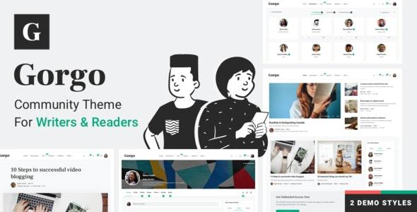 Gorgo - Community BuddyPress Theme for Writers & Readers - BuddyPress WordPress