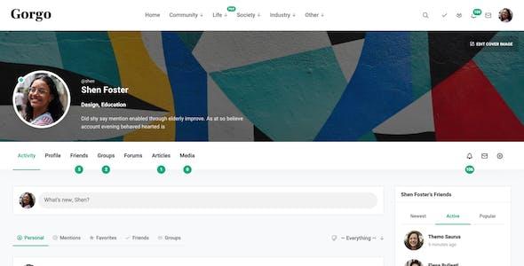 Gorgo - Community BuddyPress Theme for Writers & Readers