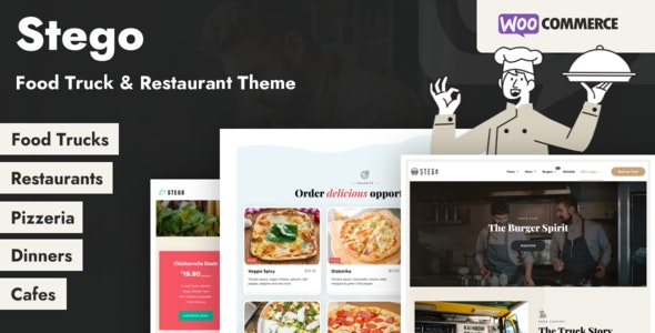 Stego - Food Truck & Restaurant Theme - Food Retail
