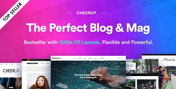CheerUp - Food, Blog & Magazine - Personal Blog / Magazine