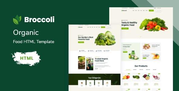 Broccoli - Organic Food HTML Template With RTL