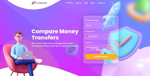 Comofer - Money Transfer Comparison PSD Template