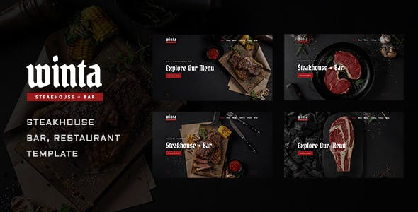 Winta - Steakhouse, Bar and Restaurant Template