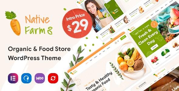 NativeFarm - Organic & Healthy Food WordPress Theme - Food Retail