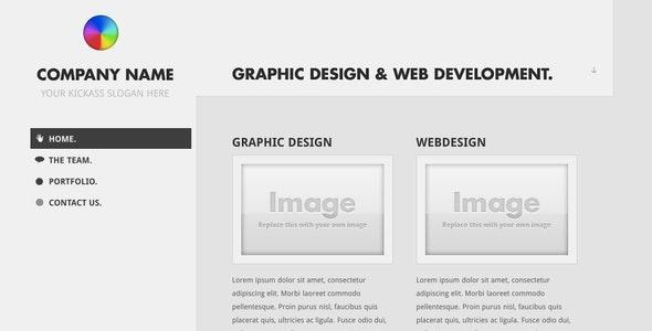 Minim - A clean minimal theme - Creative Site Templates
