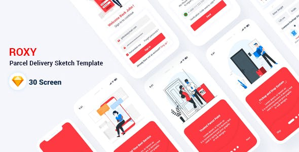 Roxy - Parcel Delivery Sketch Template