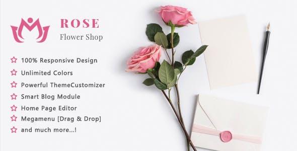 Rose - Flower Shop and Florist Responsive PrestaShop 1.7 Theme