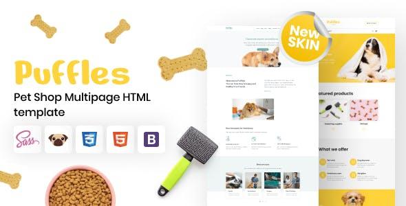 Puffles - Pet Shop HTML5 Template