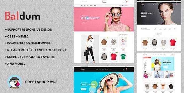 Baldum Fashion Store Prestashop Theme 1.7.7.x - Fashion PrestaShop