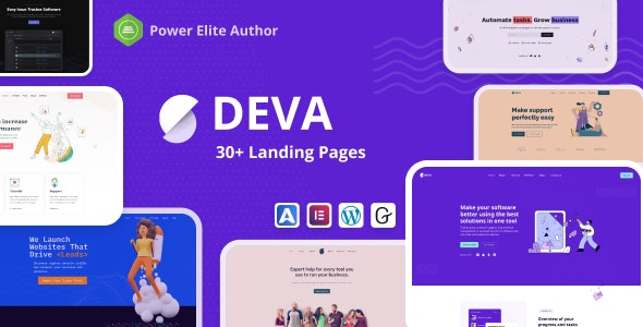 Deva - 30+ Landing Pages - Software Technology