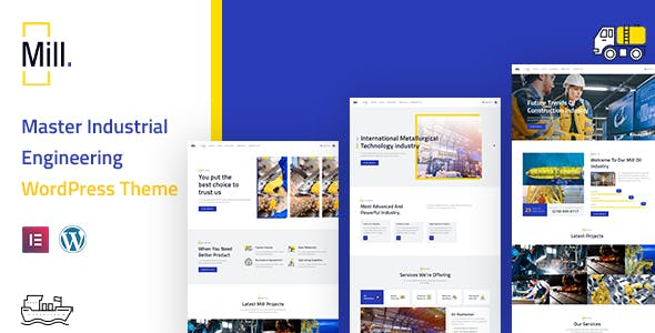 Mill | Industrial Engineering WordPress Theme