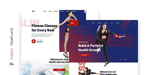 Josy – Fitness Template for Figma - Health & Beauty Retail