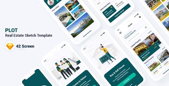 Plot - Real Estate Sketch Template - Sketch UI Templates
