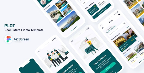 Plot - Real Estate Figma Template - Figma UI Templates