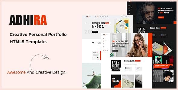 Adhira - Creative Portfolio HTML Template - Portfolio Creative