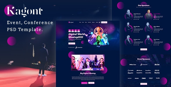 Kagont-Event PSD Template. - Events Entertainment