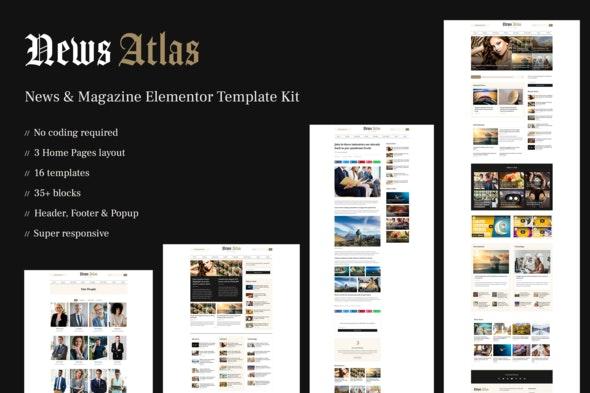 NewsAtlas  – News & Magazine Elementor Template Kit - News & Magazines Elementor