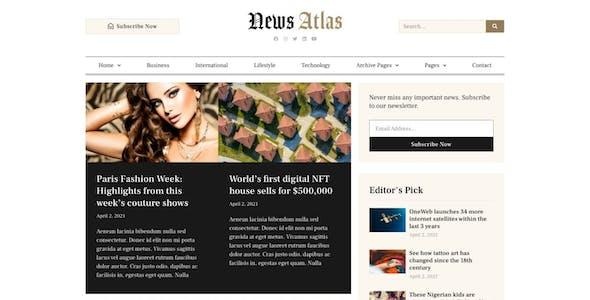 NewsAtlas  – News & Magazine Elementor Template Kit