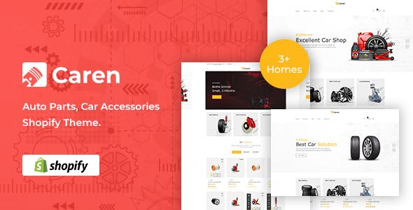 Caren - Auto Parts, Car Accessories Shopify Theme