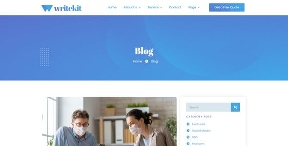 WriteKit - Content Writing Services Agency Elementor Template Kit