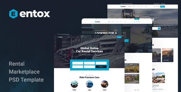 Entox - Rental Marketplace PSD Template - Business Corporate