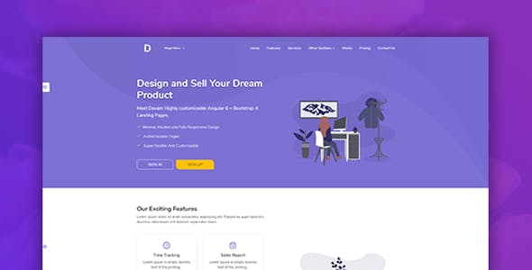 Dexam - Html & Vuejs  Landing Page for SaaS, Startup & Product