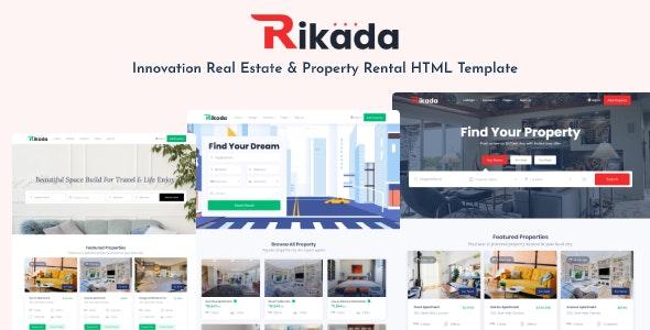 Rikada - Real Estate HTML Template - Business Corporate