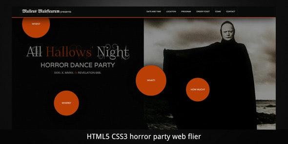 Malleus Maleficarum–Horror Party/Event Web Flyer - Creative Site Templates
