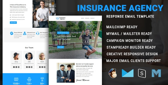 Insurance Agency - Multipurpose Responsive Email Newsletter Template - Newsletters Email Templates