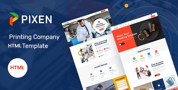 Pixen - Printing Services Company HTML5 Template - Business Corporate