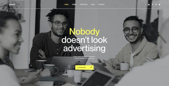Centrix. - Creative Agency & Portfolio Figma Template