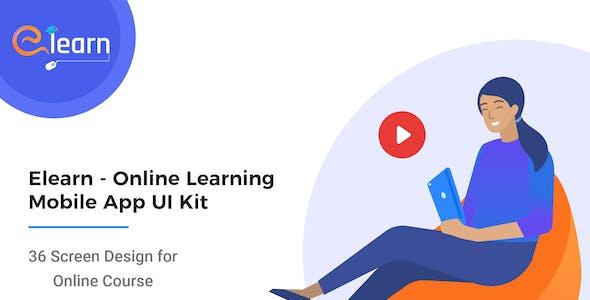 Elearn - Online Learning Mobile App UI Kit