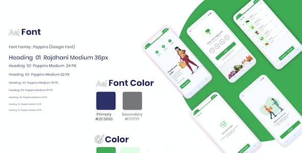Grosshop - Grocery Shopping  App UI kit