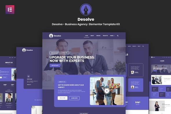 Desolve - Business Agency Elementor Template Kit - Business & Services Elementor