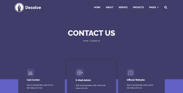 Desolve - Business Agency Elementor Template Kit