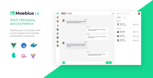 Moebius - VueJS 3 Chat Platform UI