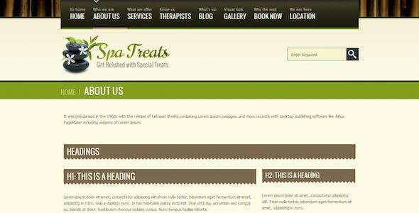 Spa Treats - Health, Salon HTML