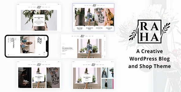 Raha - Creative WordPress Theme - Blog / Magazine WordPress