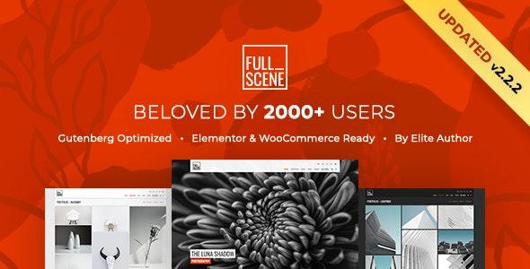 FullScene - Portfolio / Photography WordPress Theme - Portfolio Creative