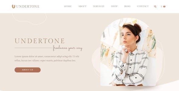 Undertone - Business Services & Shop Elementor Template Kit