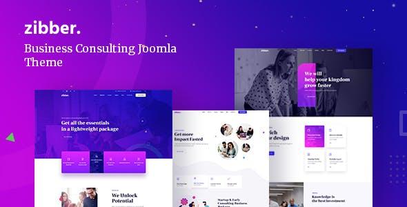 Zibber - Business Consulting Joomla 4 Template