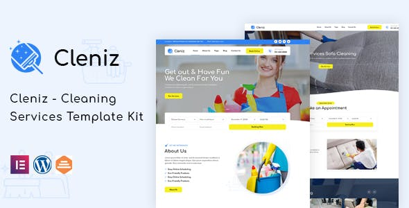 Cleniz - Cleaning Services Elementor Template Kit