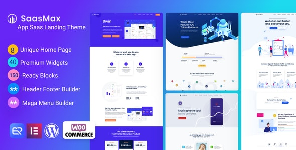 Saasmax - Saas Startup WordPress Theme - Software Technology