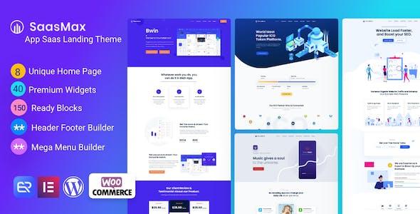 Saasmax - Saas Startup WordPress Theme