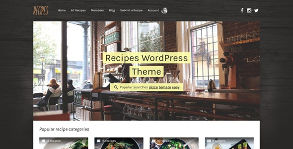 Recipes - WordPress Theme - Food Retail