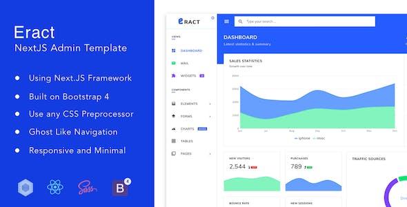 Eract - ReactJS Bootstrap 4 Admin Template